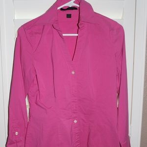 EXPRESS DESIGN pink long sleeve fitted top